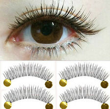 10 Pairs Natural Eye Lash Long Thin Fake False Eyelashes Clear Makeup 10 Pairs