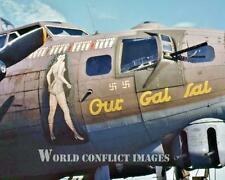 USAAF WW2 B-17 Bomber Our Gal Sal 8x10 Color Nose Art Photo 100th BG WWII