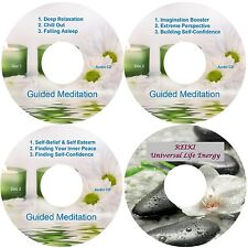 Guided Meditation 9 Sessions & Reiki 4 CDs Relaxation Antistress Aiuta Il Sonno