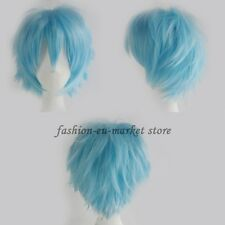 Unisex Anime Fashion Short Layer Wig Cosplay Full Wigs Halloween White Purple US