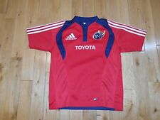 Adidas MUNSTER Rugby Union Ireland Embroidered Sewn Jersey Kit Youth Large 2008