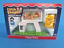 "NIB=FISHER PRICE, LITTLE PEOPLE ""DRIVE-IN MOVIE"" PLAY-SET, VNTG-1989, #2454, USA"