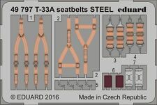 Eduard PE 49797 1/48 Lockheed T-33A Shooting Star seatbelts STEEL Great Wall