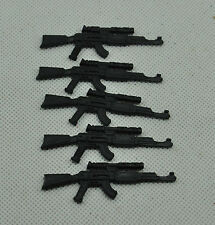 Gi Joe  2004  lot of 5 COBRA INFANTRY COBRA OFFICER ak-47 Rifle accessories #5