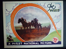 1928 THE WHIP - LOBBY CARD - HORSERACING - SILENT - VINTAGE - GAMBLING