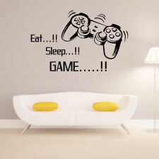 Eat Sleep Game Wall Stickers Game Decor Art DIY Boy Girl Kitchen Room Home Decor
