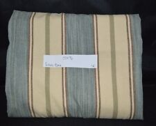"Pottery Barn Conrad Stripe Lined Drape Curtain Panel 96"" Neutral Blue Ivy Tan #3"
