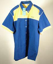 Camicia promo Dunlop Gomme Goodyear Truck Force tg L etichetta Pubblicità-OP(