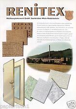 Renitex Holzfaserplatten Niederlosheim XL Reklame 1956 Holzplatten Saarbrücken