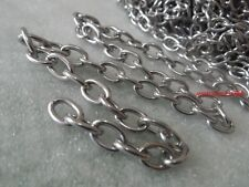 1 Meter 8mm Jewelry Finding stainless steel Oval Link Chain Finding heavy silver