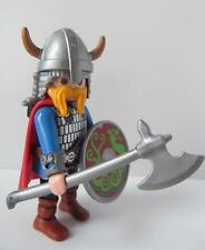 Playmobil Viking figure with horned helmet, axe, sword and shield NEW