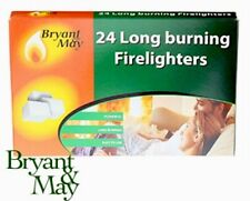 BRYANT & MAY 24 LONG BURNING FIRELIGHTERS FIRE KEEP YOUR HOME WARM EASY TO USE