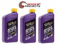 Royal Purple 10W40 Max-Cycle Synthetic Motorcycle Engine Oil 3-Quarts 01315