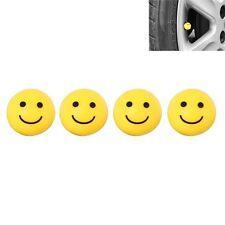 Auto Laster- Motorrad Qaud Lächeln Smilie Gesicht* Ventilkappe/Staub Kappe Set