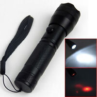 2 in1 Portable 7 LED Red Laser Flashlight Torch Dual Purpose Light Alloy Lantern