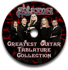 SAXON HEAVY METAL ROCK GUITAR TABS TABLATURE SONG BOOK SOFTWARE LIBRARY CD