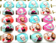 wholesale 100pcs frozen children's cartoon resin rings Anna and Elsa party stuff