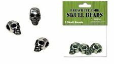 3 Pack Metal Skull Beads Horizontal Hole for Craft Projects Paracord Accessories