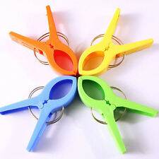 4pcs Protable Colourful Sunbed Pool Beach Towel Quilt Plastic Clips Home Tools