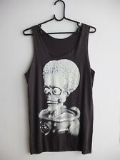 Alien Brain Mars Attack Horror Film Punk Rock Tank Top M