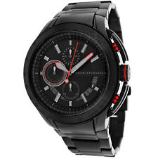 BRAND NEW ARMANI EXCHANGE AX1404 BLACK + RED ACCENT MULTI-FUNCTION MEN'S WATCH