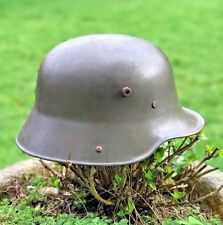 WW1 GERMAN M16 STEEL HELMET,+ ORIGINAL FIELD GREY GREAT WAR FINISH + LINER BAND.