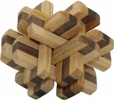 Intelligence Wooden Wood 3D IQ Puzzle Magic Cube Toy Brain Teaser Gift