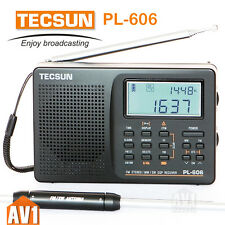 TECSUN PL606 full-band digital modulator Radio. FM / SW / MW / LW DSP ETM.