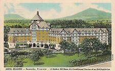 Hotel Roanoke in Roanoke VA Postcard 1949