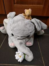 "ELLIOT & BUTTONS HOLDING DAISY FLOWER LARGE BEANIE SOFT TOY PLUSH 18"" LONG CUTE"