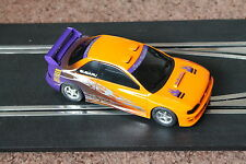 SCALEXTRIC SUBARU IMPREZA STREET PURSUIT CAR ORANGE BLACK EXCELLENT