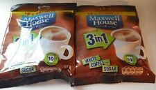 Maxwell House White Coffee & Sugar 3 in 1 - 2 x 10 sachets