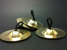 4 piece (2 pair) gold Brass Finger Cymbals Zills Belly Dancer , dance schools