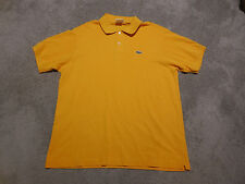 Lacoste Polo Shirt Mens Size 6 Large Peach Short Sleeve Collar Golf Yellow Gold