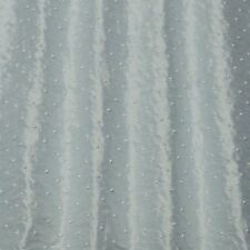 "Beaded Baby Blue Shantung Dupioni 100% Silk Fabric, 44"" Wide, By Yard (EB-922M)"