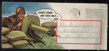 1943 USA Patriotic Cover Columbia SC Shoot some Ink Machine Gun Front