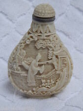 ANTIQUE CHINESE BEIGE CINNABAR PERFUME, SNUFF BOTTLE