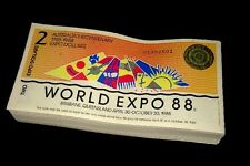 1x Banknotes Australian Brisbane World Expo 1988 $2 Dollar Uncirculated