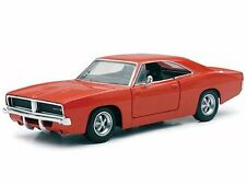 "NewRay 1969 Dodge Charger R/T 1:25 scale 8"" diecast model car Orange"