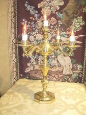 Vintage Electric 5 bulb Brass Candelabra for Buffet or Center Piece