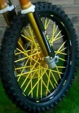 **MADE IN USA** (YELLOW)  21/19  BYKAS SPOKE WRAPS DIRTBIKE SKINS COATS COVERS
