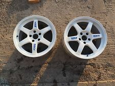 Genuine Volk Racing Rays TE37 Rims Wheels 17X9.5 +40 5x114.3 CE28 WORK S15 RX7