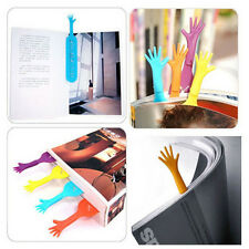 4Pcs Funny Help Hand Shape Plastic Bookmarks Clips Stationary School Supplies