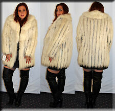 Blue Fox Fur Jacket - Size Small 4 6 S - Efurs4less