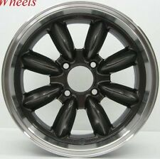 15X7 ROTA RB WHEELS 4x108 GUN METAL RIMS +30 FITS ALFA ROMEO GTV SPIDER
