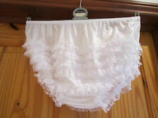 WHITE LACE   ADULT SEXY  RUMBA, SISSY,DANCE, AB PANTIES   LARGE
