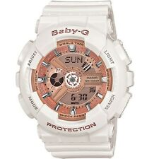 Casio Baby-G BA110-7A1 White/Rose Gold Digital Analog Watch BA-110-7A1