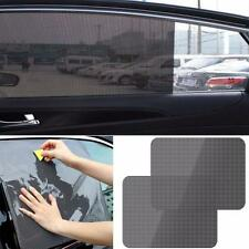 2Pcs Car Rear Window Side Sun Shade Cover Block Static Cling Visor Shield Screen