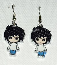 L Death Note Anime Earrings Surgical Hook New