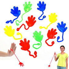 """72Pcs Vinyl Sticky Hands And Feet On 4"""" Elastic String Squishy Party Bag Fillers"""